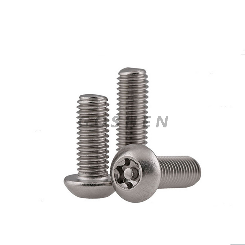 stainless steel SS304 Torx pan head Security Machine Screw With Pin