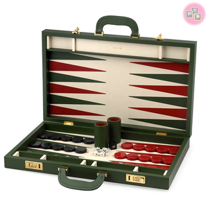 Wholesale Hot Board Game Handmade Chess Wooden Chess Games Imitation Leather Backgammon
