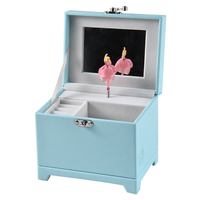 Custom Personalized Christmas Birthday Ballet Cute Baby Kids Music Box Mirror Dancing Ballerina Music Jewelry Box