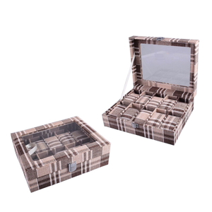 PU leather cotton 10 watches watch organizer box