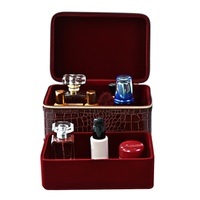 High Quality Travel Pu Leather Woman Fashion Beauty Makeup Vanity Box with Zipper