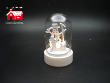 Christmas Decorative Mini Led Glass Dome with White Laser Cut Christmas Scene As Led Home Decoration From Christmas Decoration Supplies