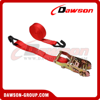 1 inch 10 feet Ratchet Strap with Vinyl Coated Wire Hooks