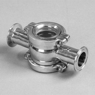 Sanitary Stainless Steel Triclamp Cross Sight Glass Pressure Type