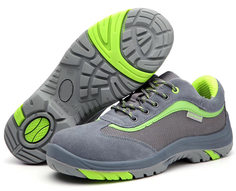 oil acid resistant steel toe cap breathable safety shoes fashion