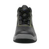 China oil resistant black steel toe cap industrial safety leather shoes