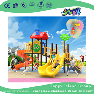 Cartoon Slide Plastic Children Playground For Promotion (BBE-B4)