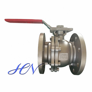 2-PC Carbon Steel Flanged Water Lever Floating Ball Valve