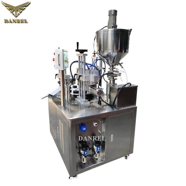 Ultrasonic Automatic Plastic Tube Filling Sealing Machine, Cosmetic Cream Tube Filler Sealer, 自動超聲波灌裝封尾機
