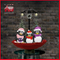 (118030U075-3P-RW) Snowing Christmas Decorations with Umbrella Base