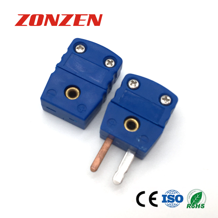 Miniature Size Flat 2 Pin Thermocouple Connector