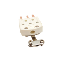 3 Prong Mini Flat Pin Thermocouple Connector With Metal Clamp