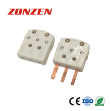 Three flat pins miniature connector for thermocouple RTD (ZZ-M10)