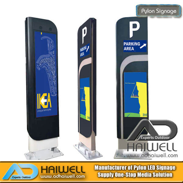 Outdoor Street Furniture LED Display Screen Digital Parking Pylon Signage