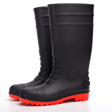 108-9 black oil resistant anti slip safety rain boot factory
