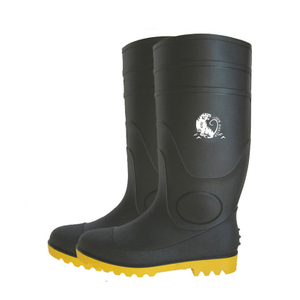 BYS CE approved chemical resistant steel toe cap pvc safety boots