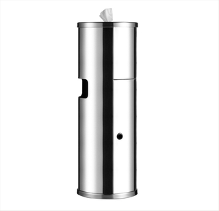 Stainless Steel Wipe Dispenser Trash Can /Gym Wipes Floor Dispenser