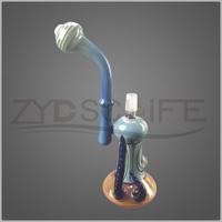 Purple New Craft Glass Water Pipe Filter Recycling Oil Pipe