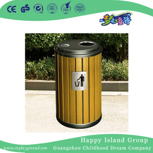 Discount Garden Round Wood Trash Can (HHK-15008)