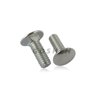 Polished Stainless Steel Flat Head Metric M6 Carriage Bolt