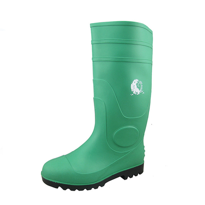 PBS waterproof oil slip resistant steel toe cap industry PVC safety gumboots