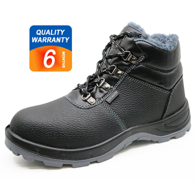 372 Oil resistant anti static fur lining winter safety boots shoes