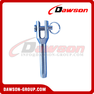 Swage Fork Machined Terminal, Stainless Steel