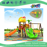 Outdoor Kids Backyard Slide And Swing Combination Set (BBE-B31)