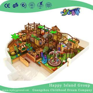 Kindergarten Brown Middle Animal Cartoon Indoor Playground (TQ-180706)