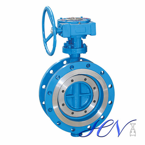 A216 WCB Double Flanged Zero Leakage Manual Triple Offset Butterfly Valve