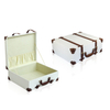 Wine Box Manufacturer Brown PU leather vintage suitcase