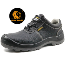Low ankle steel toe cap leather work shoes safety for labor
