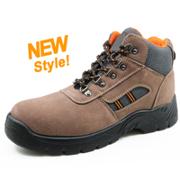 5040 oil resistant cheap suede leather steel toe cap work shoes safety