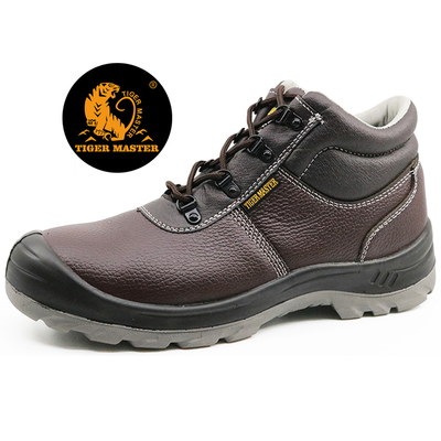 High ankle oil resistant construction safety work shoes for men