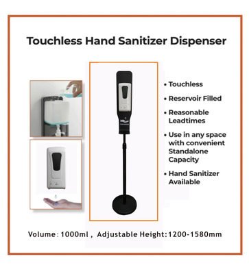 Non- Touch Automatic Hand Sanitizer Dispenser with Stand