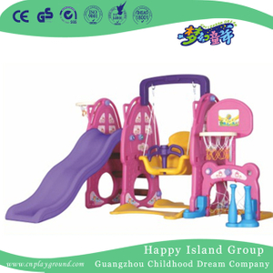 Pink Rabbit Children Plastic Small Playground Slide With Swing (ML-2014006))