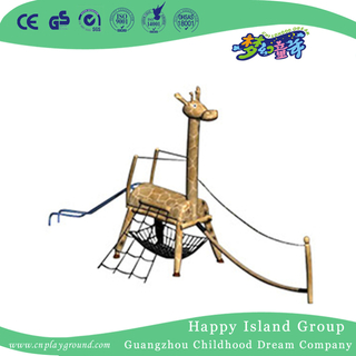 Indoor Little Children Wooden Giraffe Climbing Playground (HHK-12702)