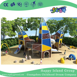 Outdoor Sailing Combination Slide Sea Breeze Playground (HHK-3801)