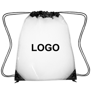 High Quality Plastic TPU PVC Clear Drawstring Backpack Bag