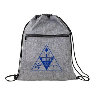 420 Denier Polyester Drawstring Backpack with Front Front Zipper Pocket