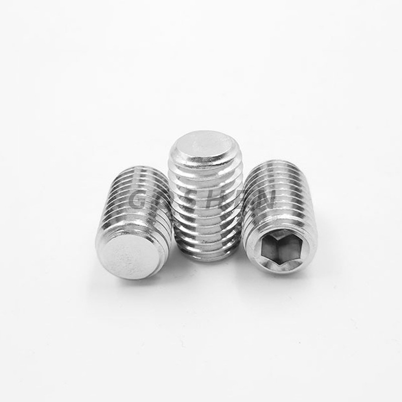 Stainless Steel 304 316 M2.5-M30 Hexagon Socket Set Screws With Dog Point
