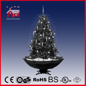 (40110U150-HW) Factory Direct Indoor Decoration LED Lights Snowing Christmas Tree