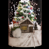 Tabletop Snowing Lamp Christmas Home Decor