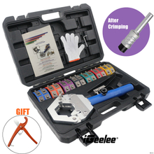 iGeelee Hydraulic A/C Hose Crimper Hydraulic A/C Crimping Tool Hydra-crimp for Barbed And Beaded Hose Fittings