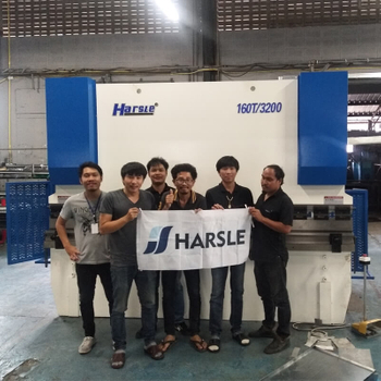 Hydraulic Press Brake, Shearing Machine and Notching Machine for Thailand customer, HARSLE's feedback