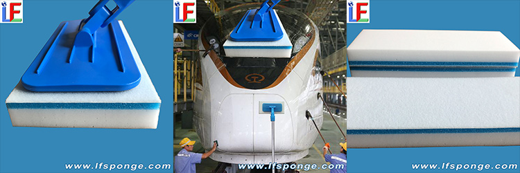 Lfsponge--High-tech-foam-brush--for-train-cleaning
