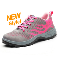 DTA017 oil resistant non slip sport style women work shoes steel toe