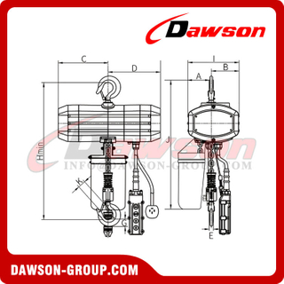DSHH Series 3T-10T Three Phase Electric Chain Hoist