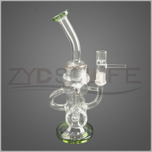 Process Silver Decorative Glass Water Pipe for Filter Tobacco Pipe
