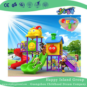 School Cartoon Sunshine Slide Combination Children Playground (BBE-A61)